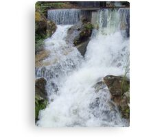 cross-over - of flowing water   (and spirits ?) Canvas Print