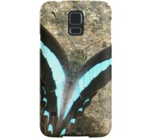 Blue Triangle Butterfly - A Closer View Samsung Galaxy Case/Skin