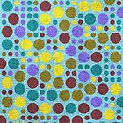Retro polka dot painted canvas #3 by Nhan Ngo