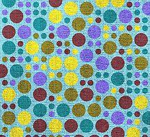 Retro polka dot painted canvas #3 by Nhan Ngo