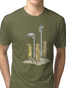 Meerkat CCTV Tri-blend T-Shirt