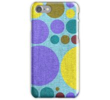 Retro polka dot painted canvas #4 iPhone Case/Skin