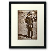 The Gun Slinger Framed Print