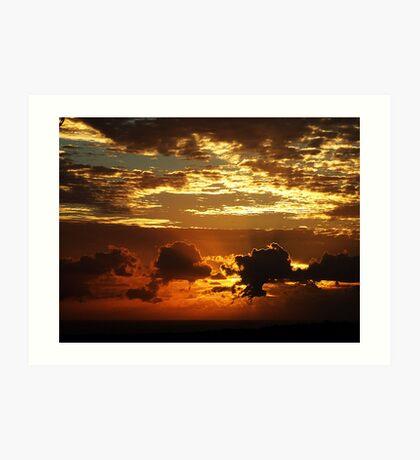 Golden Layers.. Art Print
