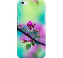 Pink apple blossom flowers iPhone Case/Skin