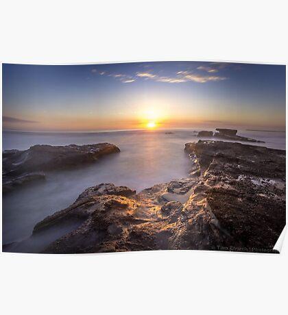 Caves Beach Sunrise - NSW Australia Poster