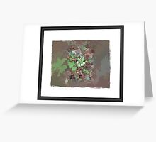 Abstract of primrose Greeting Card
