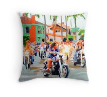 D.O. B. - The Dykes on Bikes come to San Diego Throw Pillow