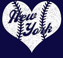 New York Yankees Baseball Heart  by stopshop