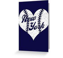 New York Yankees Baseball Heart  Greeting Card