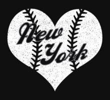 New York Yankees Baseball Heart  Baby Tee