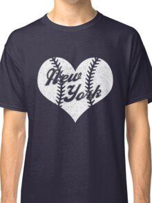 New York Yankees Baseball Heart  Classic T-Shirt