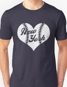 New York Yankees Baseball Heart  Unisex T-Shirt