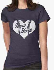 New York Yankees Baseball Heart  T-Shirt