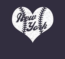 New York Yankees Baseball Heart  Womens Fitted T-Shirt