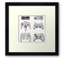 8-Bit Controllers Framed Print
