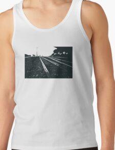Railway Tracks at sunrise and twilight sky Tank Top