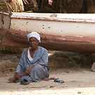 Local man, River Nile, Egypt by Craig Scarr