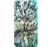 Coloured psychedelic tree (full) iPhone Case/Skin