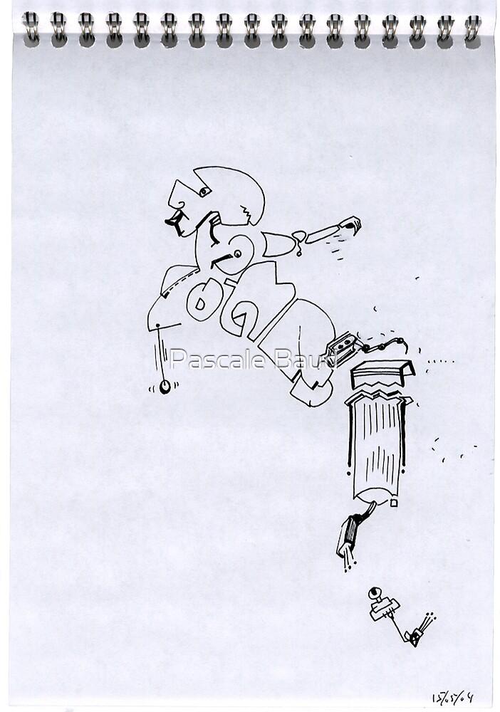 Petits Dessins Debiles - Small Weak Drawings#04 by Pascale Baud