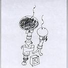 Petits Dessins Debiles - Small Weak Drawings#13 by Pascale Baud