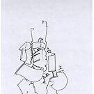 Petits Dessins Debiles - Small Weak Drawings#15 by Pascale Baud