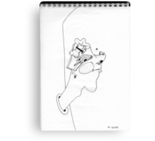 Petits Dessins Debiles - Small Weak Drawings#19 Canvas Print