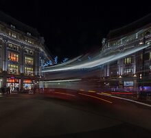 Bus at Oxford circus,London by nick board