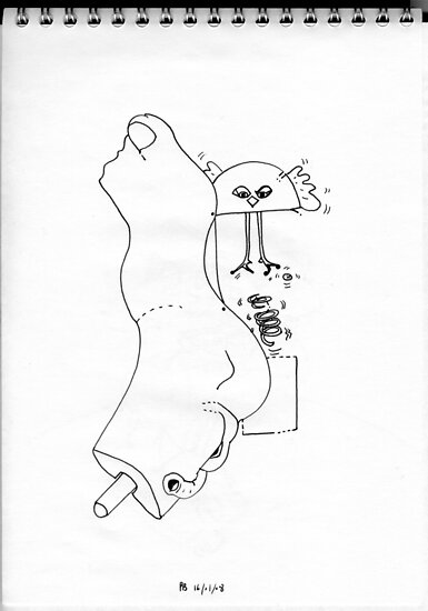 Petits Dessins Debiles - Small Weak Drawings#20 by Pascale Baud