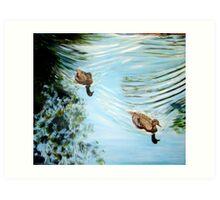 The enchanted pond. Art Print