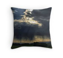 storm approaches aberafan beach port talbot Throw Pillow