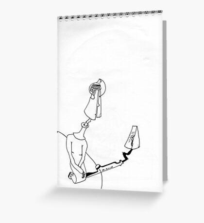 Petits Dessins Debiles - Small Weak Drawings#26 Greeting Card