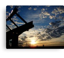 Stadium sunset Canvas Print