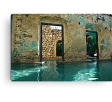 doors in the swimmingpool Canvas Print