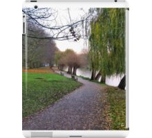 Willows and benches iPad Case/Skin