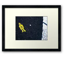 And I'm floating in a most peculiar way Framed Print