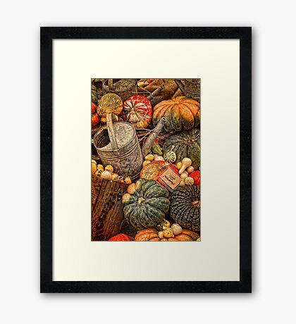 At the Market! Framed Print