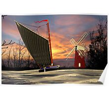 Norfolk Wherry and Windmill, Norfolk Broads - all products bar duvet Poster
