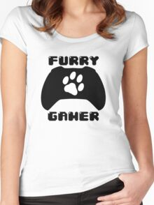 Furry Gamer - Xbox One Women's Fitted Scoop T-Shirt