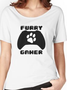 Furry Gamer - Xbox One Women's Relaxed Fit T-Shirt