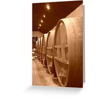 Wine Barrels 2 Greeting Card