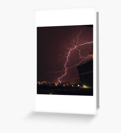 Brisbane lightning - 22/10/2012 Greeting Card