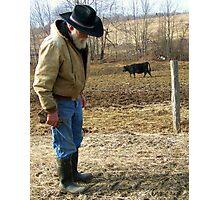 Mild Mannered Farmer Photographic Print