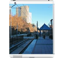 View From NJ Transit's 9th Street Station Hoboken NJ iPad Case/Skin