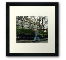 Drive by. Framed Print