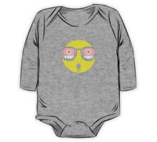 Smiley Face X-Ray Vision Goggles Distress Vintage Design One Piece - Long Sleeve