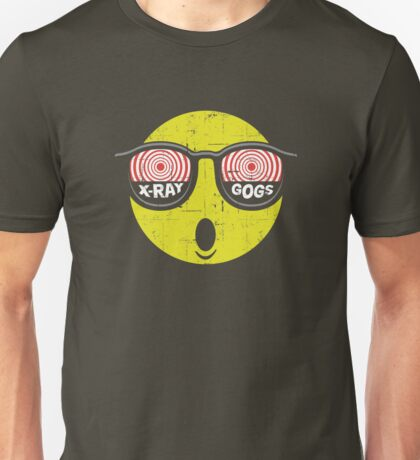 Smiley Face X-Ray Vision Goggles Distress Vintage Design Unisex T-Shirt