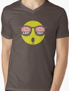 Smiley Face X-Ray Vision Goggles Distress Vintage Design Mens V-Neck T-Shirt