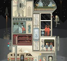 Moon Base by Octavi Navarro (Pixels Huh)