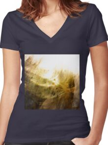 texture Women's Fitted V-Neck T-Shirt